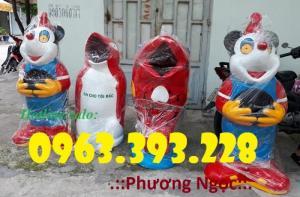 Thùng rác hình con thú vui nhộn, thùng rác hình con cá chép, thùng rác công cộng