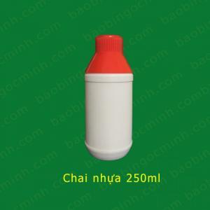 Chai nhựa hdpe 250ml đựng phân bón, thuốc lá