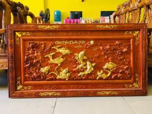 Tranh Treo Tường - Cửu Ngư Quần Hội Dát Vàng | Hàng Tuyển