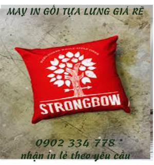 xưởng may gối quà tặng strongbow giá rẽ - xưởng may limac