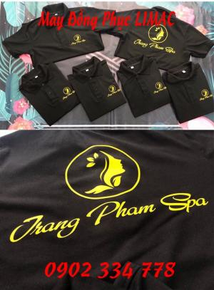 Xưởng may áo thun đồng phục spa chuyên nghiệp giá tốt