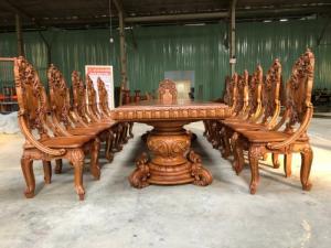 Đẳng Cấp Gian Bếp VIệt - Bộ Bàn Ăn Nguyên Tấm 12 Cổ Điển Siêu VIP | Hnagf Tuyển.