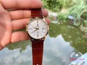 Đồng hồ nam Rolex dây da cực đẹp