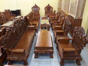 Bộ Bàn Hoàng Gia Cổ Điển 6 Món Cho Nhà Phòng Khách Rộng 4m