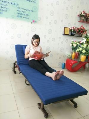 Giường gấp Hàn Quốc Raku bed rộng 75cm