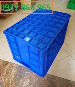 thùng nhựa đặc  kích thước 610 x 420 x 390 mm đựng sản phẩm