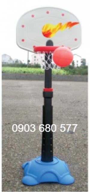 Trụ bóng rổ vận động, vui chơi cho bé mầm non