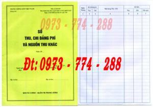 Mẫu sổ thu nộp đảng phí và nguồn thu khác của Ban tài chính - Quản trị trung ương