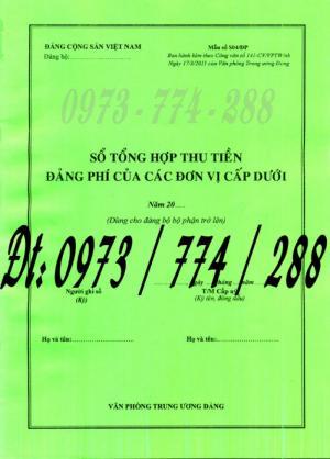 Bán quyển sổ tổng hợp thu tiền Đảng phí của các đơn vị cấp dưới