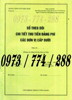 Bán cuốn sổ theo dõi chi tiết thu tiền Đảng phí