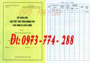 Đảng Cộng Sản Việt Nam - Sổ theo dõi chi tiết thu tiền Đảng phí các đơn vị cấp dưới mẫu số s03/đp