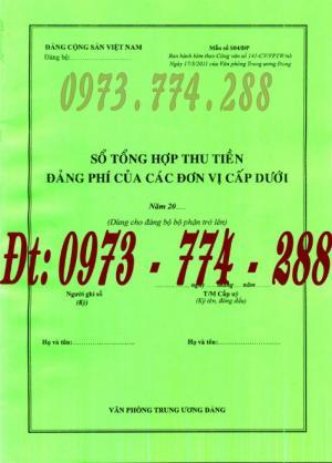 Bán quyển sổ tổng hợp thu tiền đảng phí