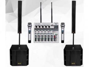 Mixer Karaoke BOSA DX-77 Tích Hợp Micro Không Dây Cao Cấp giá rẻ