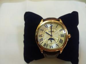Đồng hồ Nam dây da Stauer hàng Mỹ .