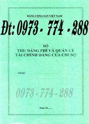 Bán quyển sổ thu Đảng phí và quản lý tài chính Đảng của chi bộ