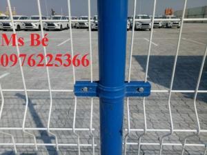 Hàng rào lưới thép, hàng rào sơn tĩnh điện gập hai đầu