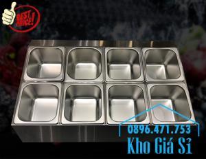 Thiết kế, gia công thùng/ khung/ khay inox giữ lạnh đựng thạch topping trà sữa, cháo dinh dưỡng tại Đak Lak