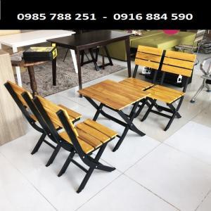 Bàn ghế gổ xếp quán nhậu  làm tại xưởng sản xuất ANH KHOA 08980
