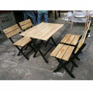 Bàn ghế gổ xếp quán nhậu  làm tại xưởng sản xuất ANH KHOA 0896776