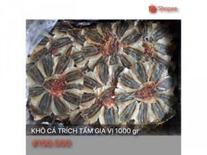 Khô cá trích tẩm gia vị 1000 gr