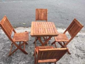 Thanh lý bộ bàn ghế xếp gỗ mini gia rẻ