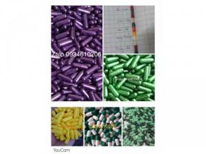 viên capsule gelatin rỗng các màu size 0