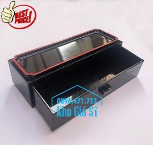 Bán hộp đựng đũa muỗng có nắp màu đen, Hộp đựng đũa muỗng màu đen có ngăn kéo Bình Dương