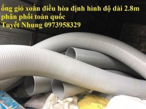 Phân phối ống nhựa định hình - ống gió xoắn định hình - ống nhựa xếp hệ thống điều hòa D200, D150,