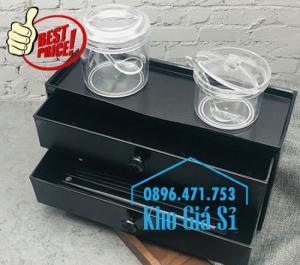 Bán hộp đũa cho nhà hàng quán ăn - Hộp đũa màu đen có nắp cho nhà hàng tại Hà Nội