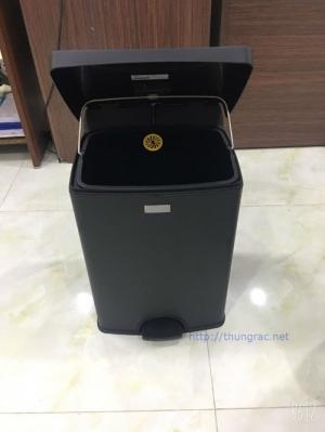 Địa chỉ bán thùng rác inox 40 lit có chân đạp