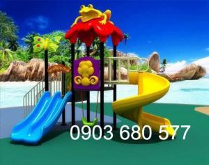 Các bộ liên hoàn cầu trượt trẻ em cho trường mầm non, sân chơi, công viên