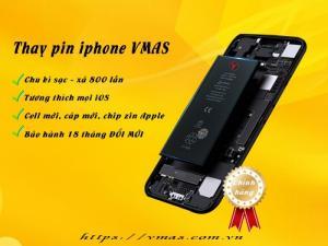 Thay pin iphone chính hãng Vmas - bảo hành 18 tháng