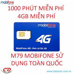 Sim 4G mobifone 1000 phút gọi mobi 4GB tốc độ cao