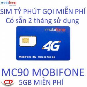 Sim 4G có sẵn 2 tháng gọi Mobifone dưới 10 phút 5gb tốc độ cao Siêu Thần Tài MC90