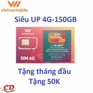 Siêu thánh sim UP- 4G VNMB miễn phí max 5GB data mỗi ngày