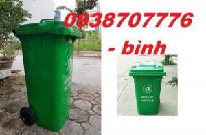 Thùng rác 120l, Thùng rác công cộng, Thùng rác nhựa HDPE, Thùng đựng rác chất lượng cao