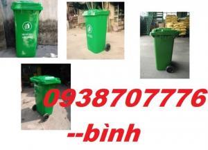 Thùng rác 240l, Thùng rác công cộng, Thùng rác nhựa màu xanh, Thùng chứa rác nhựa HDPE đảm bảo tiêu chuẩn , uy tín hàng đầu