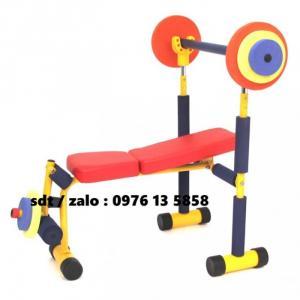 Dụng cụ đẩy tạ Weight Bench - Dụng cụ thể dục mầm non