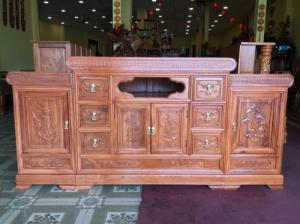 Tủ tivi đẹp ngang 1,8m gỗ tự nhiên giá tốt tại quận 7