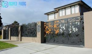Cửa, cổng biệt thự, nhà phố đẹp cắt CNC nghệ thuật, sơn tĩnh điện
