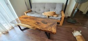Mặt bàn gỗ me tây dài 1,6m rộng 60cm dầy 7cm - A29