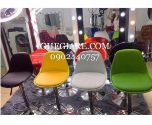 Ghế quầy lễ tân , ghế quầy bar mặt nhựa bọc nệm nhiều màu - free ship hcm