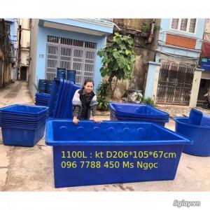 Bán thùng nhựa nuôi cá 1100 lít chữ nhật giá rẻ toàn quốc