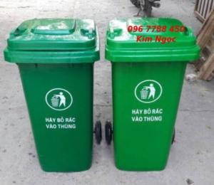 Bán thùng rác nhựa 120 lít xanh lá giá rẻ toàn quốc