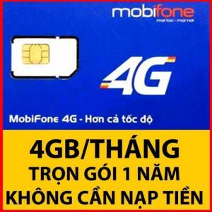 Sim 4G Mobifone miễn phí 1 năm khong nạp tiền