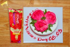 Bánh kem Hoa hồng 8/3 Socola Thụy Sĩ - Suong's House