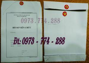 Bì - Túi - Vỏ - Bìa đựng hồ sơ viên chức theo thông tư số 07/2019/TT-BNV ngày 01/6/2019 của Bộ Nội vụ