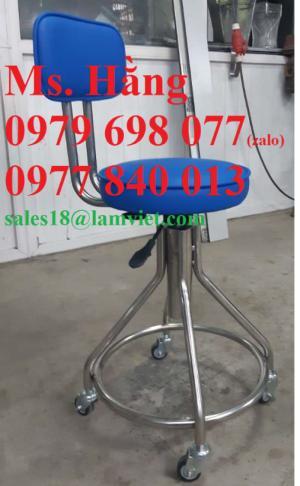 Chuyên ghế xoay inox bọc đệm phòng thí nghiệm giá rẻ nhất Hồ Chí Minh