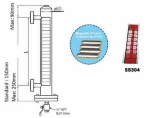 Đo mức dạng từ tính,  khd engineering (model mlg80 - 2600mm)