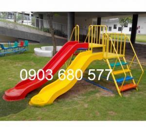 Cầu trượt ĐÔI trẻ em cho trường mầm non, sân chơi, công viên